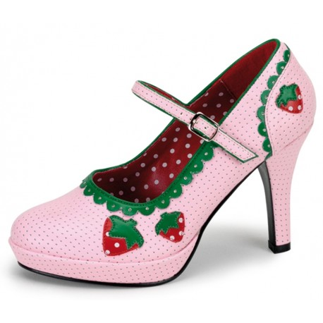 Chaussures cupcake fraise femme