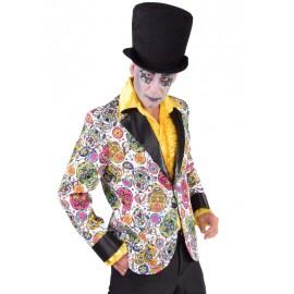 Déguisement veste mexican skull homme Halloween luxe