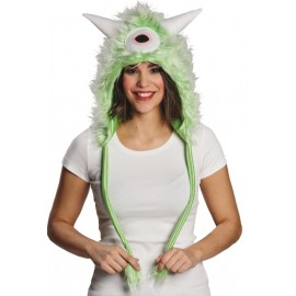 Bonnet monstre vert adulte (green monster)