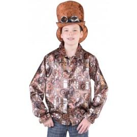 Déguisement chemise steampunk garçon luxe