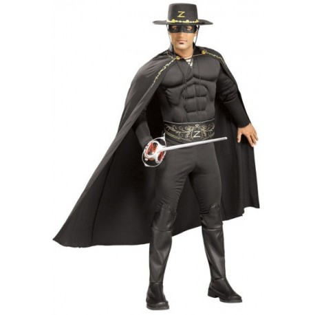 Déguisement Zorro Musclé Deluxe Adulte