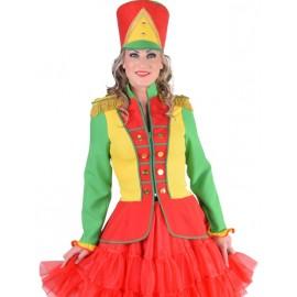 Déguisement veste harmonie rouge jaune vert femme luxe