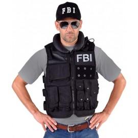 Déguisement gilet tactique FBI noir homme luxe