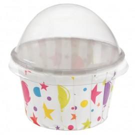 Boîtes à dragées cupcake anniversaire festif les 6