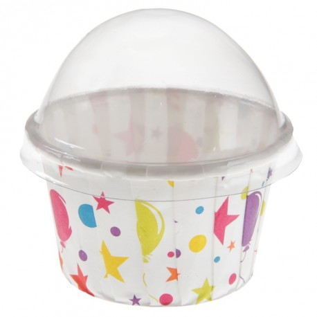 Boîte à dragées cupcake anniversaire festif les 6