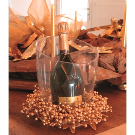 Couronne de baies or festive 28 cm luxe