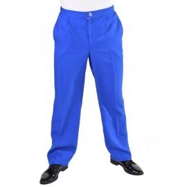 Déguisement pantalon bleu de cobalt homme luxe