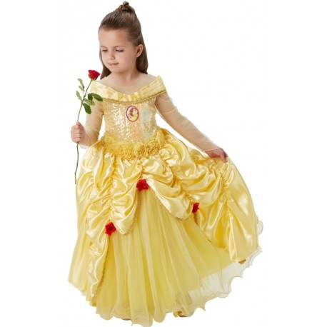 D guisement belle disney fille princesse premium - Robe la belle et la bete adulte ...