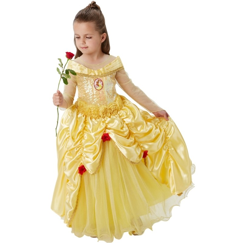 D guisement belle disney fille princesse premium d guisements disney - Deguisement la belle et la bete adulte ...