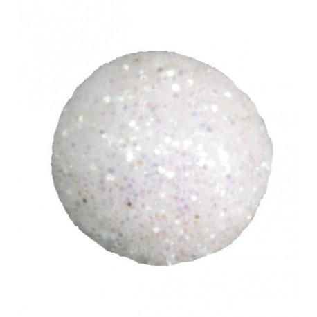 Mini boule pailletée blanche les 50