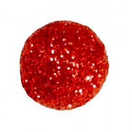 Mini boules pailletées rouges les 50