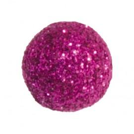 Mini boules pailletées fuchsia les 50