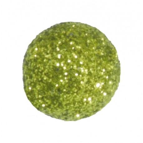 Mini boule pailletée vert amande les 50