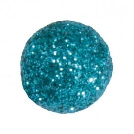 Mini boules pailletées turquoise les 50