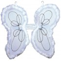 Ailes d'ange blanches enfant luxe 38 x 38 cm