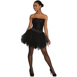 Déguisement jupe noire à paillettes femme luxe