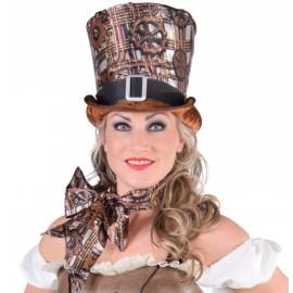 Chapeau haut de forme steampunk femme luxe