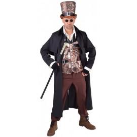 Déguisement manteau cocher steampunk homme luxe noir