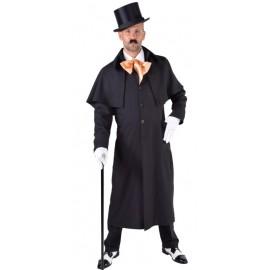 Déguisement manteau cocher victorien homme luxe noir