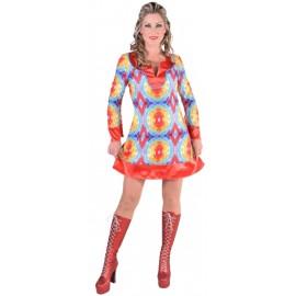 Déguisement hippie batik femme 70's luxe