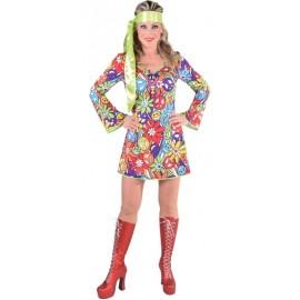 Déguisement 70's hippie smile femme luxe