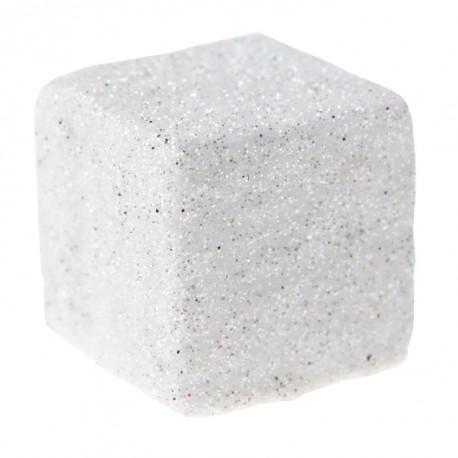 Cube pailleté blanc les 50