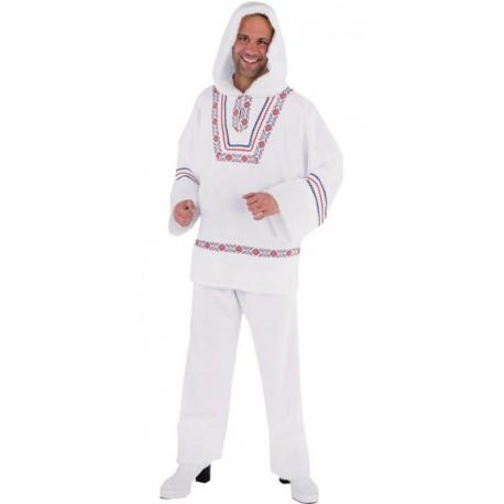 Déguisement esquimau blanc homme luxe (eskimo)
