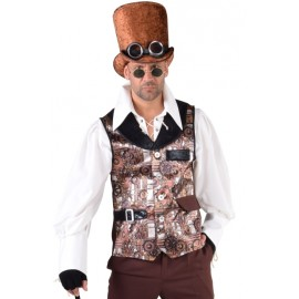 Déguisement gilet Steampunk homme luxe