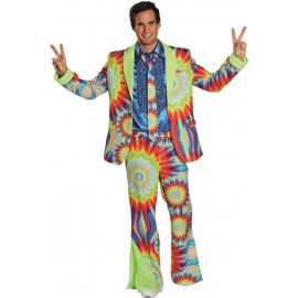 Déguisement hippie batik homme