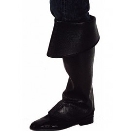 Sur-bottes noires adulte luxe