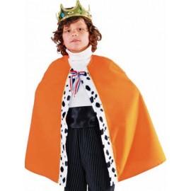 Déguisement cape de roi orange enfant luxe