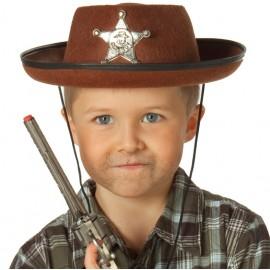Chapeau cowboy marron enfant