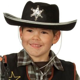 Chapeau cowboy noir enfant