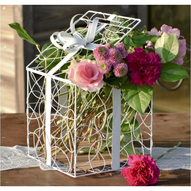 tirelire bo te cadeau blanche 20 cm achat d coration f tes mariage. Black Bedroom Furniture Sets. Home Design Ideas