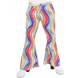 Déguisement pantalon hippie rainbow waves homme luxe