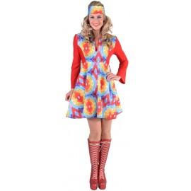 Déguisement hippie batik babydoll femme luxe