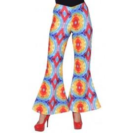 Déguisement pantalon hippie batik femme luxe