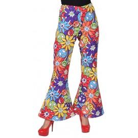 Déguisement pantalon hippie smile femme luxe