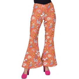 Déguisement pantalon hippie paisley femme luxe