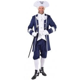 Déguisement marquis bleu homme luxe