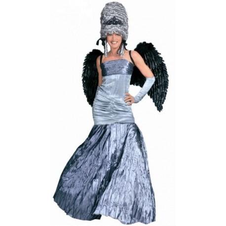 Déguisement ange gris de minuit femme luxe