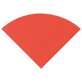 Serviette de table ronde en papier rouge les 20