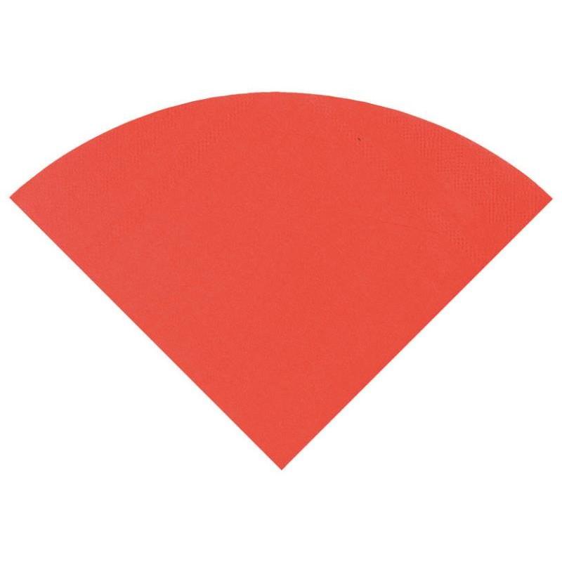 serviette de table ronde en papier rouge les 20. Black Bedroom Furniture Sets. Home Design Ideas