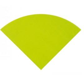 Serviette de table ronde en papier vert anis les 20
