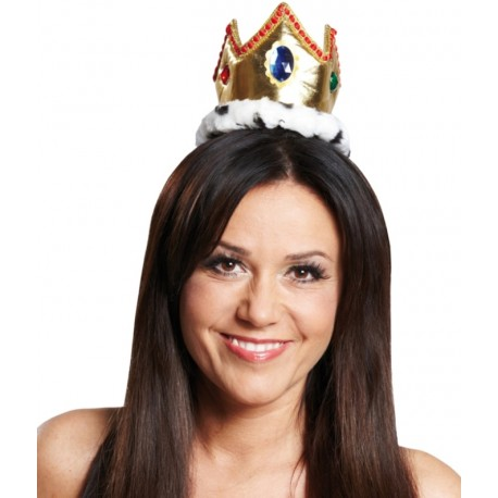 Mini couronne reine et roi adulte