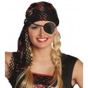 Bandana pirate noir rouge adulte