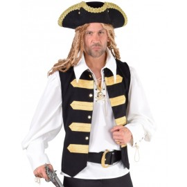Déguisement gilet amiral pirate homme luxe