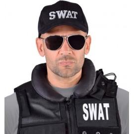 Casquette SWAT noire adulte et enfant luxe