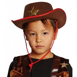 Chapeau cowboy brun enfant