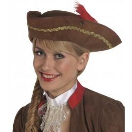 Chapeau pirate marron femme